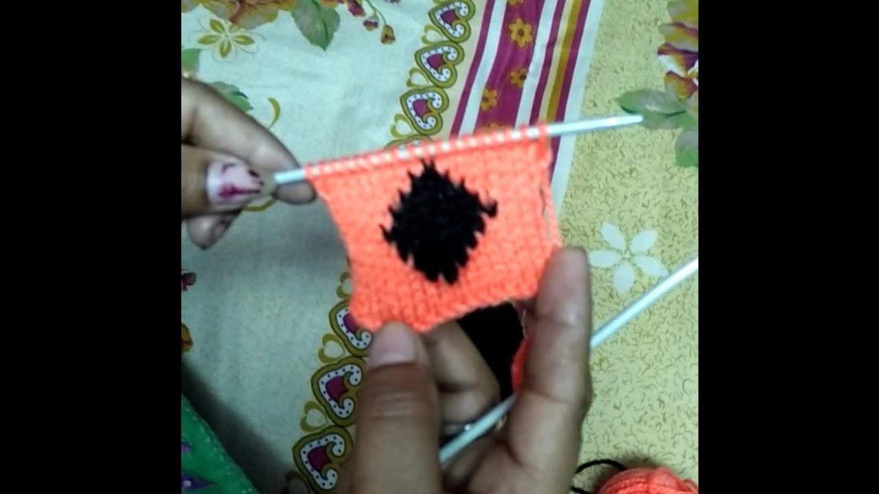How to knit barfi wala design in Hindi - knitting pattern design | woolen sweater designs
