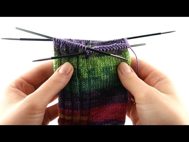 How to Knit Toe-up Socks #6 Leg