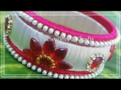 How To Make 1970's Style Silk Thread Bangles at Home !!
