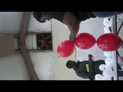 How to make a Balloon Sand Weight and Link -0-Loon Red White Balloon Arch