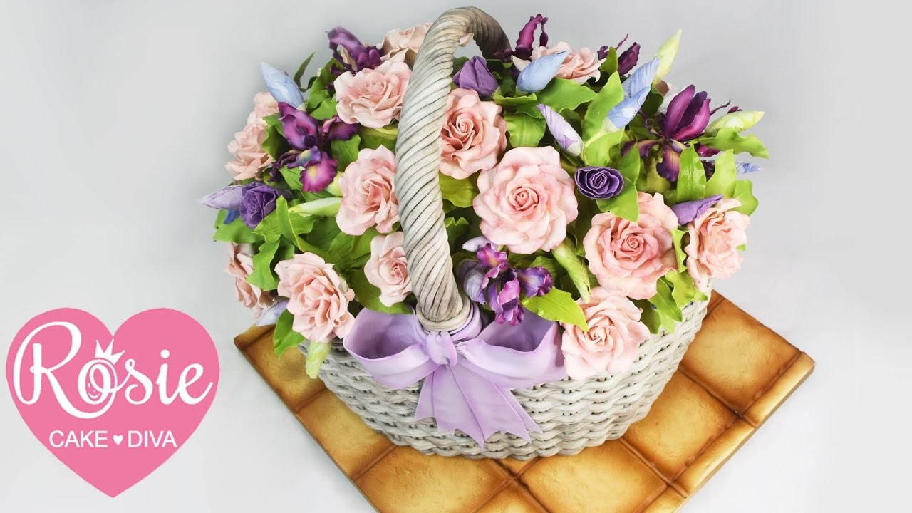 How To Make A Basket With Flowers : How to make a basket of flowers cake my crafts and diy