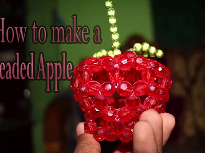 How to Make a Beaded Apple ।। পুতির আপেল