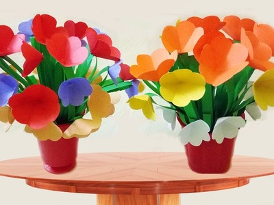 How to Make A Beautifu Paper flower vase For Room Decoration | Paper Quilling Art |