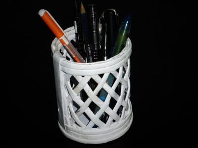 How to Make a Beautiful Pen or Pencil Holder (Newspaper Crafts)