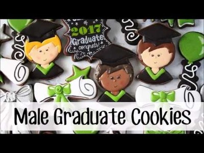 How to Make a Boy Graduate Decorated Cookie