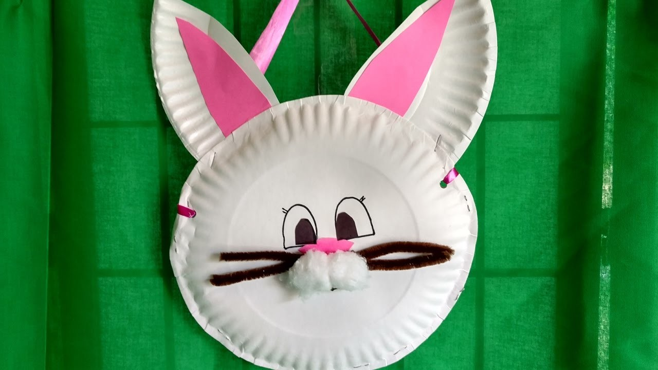 HOW TO MAKE a BUNNY BASKET from paper plates in 15 minutes. Thrifty and cute!
