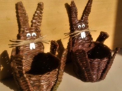 How To Make A Bunny Basket with Newspaper