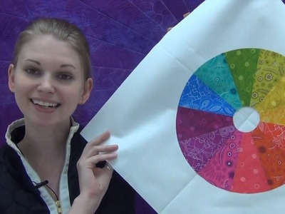 How to Make a Color Wheel Quilt Block - Beginner Quilting Tutorial with Leah Day