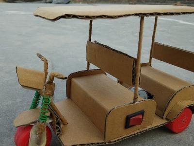 How to Make a  E rickshaw trailer || Electric Rickshaw 9v Battery || Raj easy craft