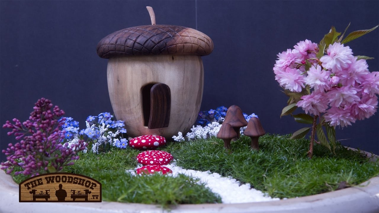 How To Make A Fairy Garden. Woodworking.Woodturning Project
