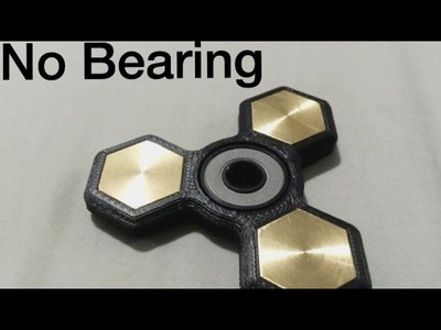 How to make a fidget spinner without a Bearing!!