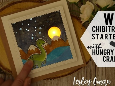 How To Make  A Lawn Fawn Loch Ness Monster Light Up Card - CHIBITRONICS Giveaway!
