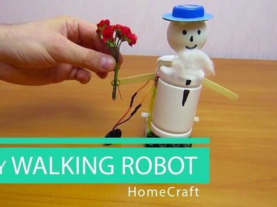 How to make a mini WALKING ROBOT. HomeCraft