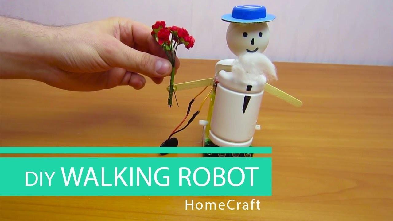 How to make a mini WALKING ROBOT. HomeCraft