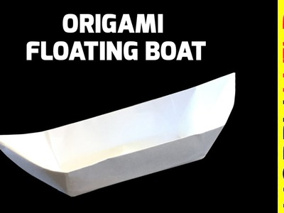 How to make a paper boat that floats - Easy origami boat | 300x400