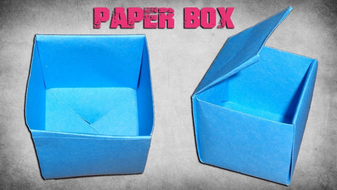 How To Make A Paper Box Easy Origami Paper Crafts For Kids
