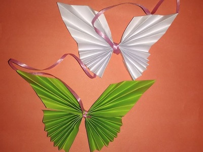 How To Make A Paper Butterfly - DIY crafts: Paper BUTTERFLIES (Very EASY) - Origami For Beginners