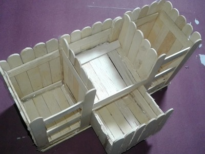 How to make a pen box using ice cream sticks