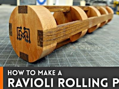 How to Make a Ravioli Rolling Pin. Woodworking