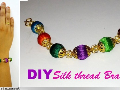 How to Make a Silk thread BRACELET at Home|Omni_trends