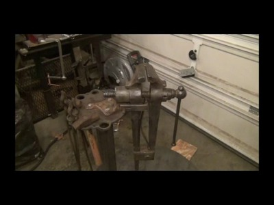 How to make a stand for a blacksmithing leg vise