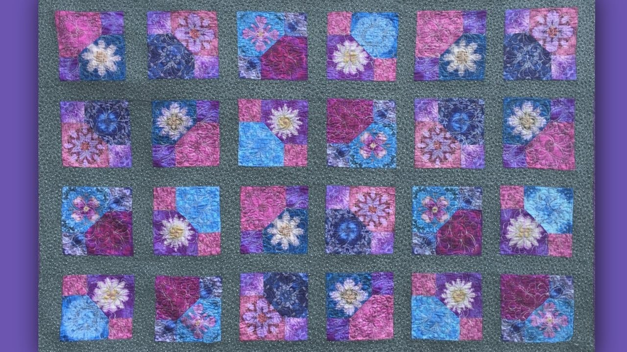 How to make a symmetrical zingy square patch quilt