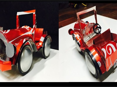 How to make a toy car(VINTAGE) out of coca cola can.