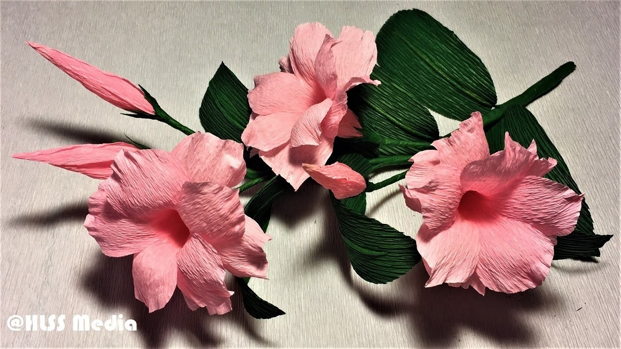 How To Make An Easy Diy Origami Mandevilla Paper Flower Making