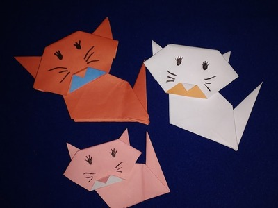 How To Make An Origami Cat Face Step By Step - Easy Origami Cat With DIY Pepar - Life Hack 720P HD