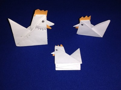 How To Make An Origami Rooster - The Proper Way To Life Hack - Easy Paper Crafts DIY