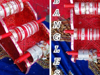 How to make bangle stand at home . . .v simple design