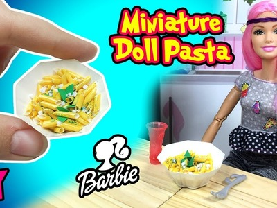 How to Make Barbie Doll Food: Miniature Pasta And Plates - DIY Easy Doll Crafts