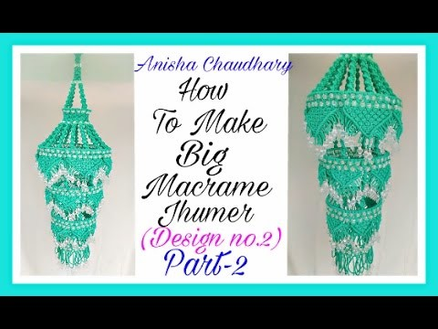 How To Make Big Macrame Jhumer {Design no.2} Part-2