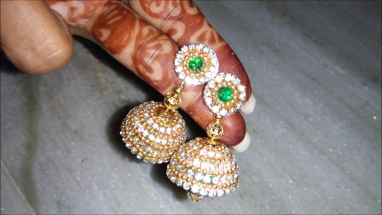 How to make bridal silk thread jhumkas   silk thread jewellery making classes. tutorials