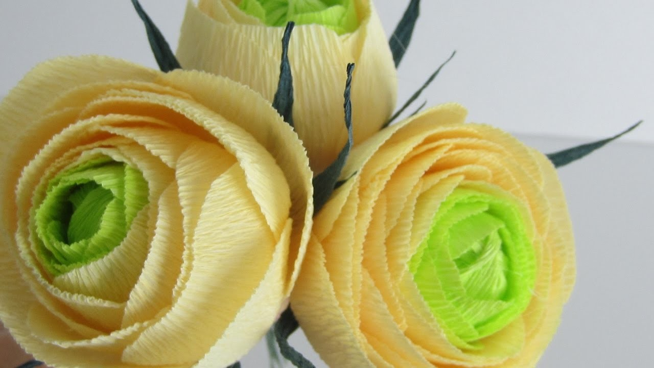 How To Make Cabbage Roses Using Crepe Paper