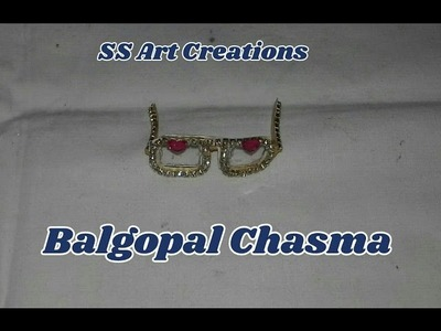 HOW TO MAKE CHASMA FOR BAL GOPAL. GLASSES FOR LADDU GOPAL – SS ART CREATIONS