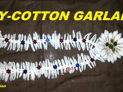 How to make COTTON GARLAND