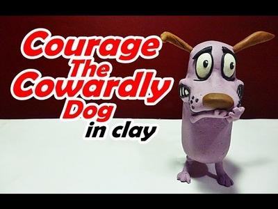 How to make Courage the Cowardly Dog in clay - Como hacer a Coraje el Perro cobarde de plastilina
