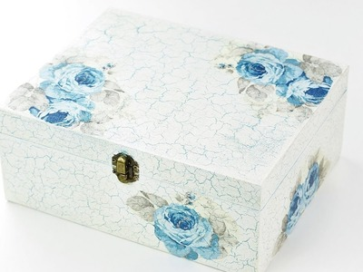 How to make decoupage box with easy crackle - Fast & Easy TUTORIAL - DIY