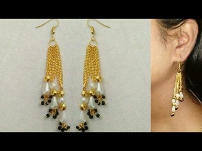 How To Make Designer Hangings.Earrings.How To Make Paper Earrings. Paper Jewellery Making.DIY