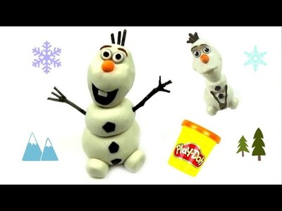 How to make Disney Frozen's Olaf the Snowman with Play Doh. Play Dough