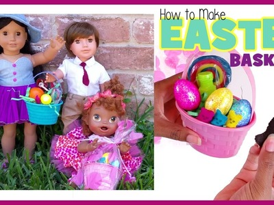 HOW TO MAKE DOLL EASTER BASKETS!!! | Baby Alive AG Play Doh Peeps Dollar Tree | BlueprintDIY Kids