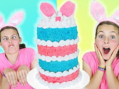 How To Make Easter Bunny Giant Layer Cake w. Chef Ava | Jumbo Marshmallow Sprinkles Cake Decorating
