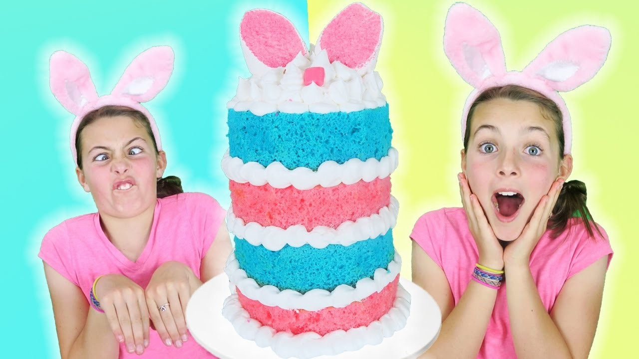 How To Make Easter Bunny Giant Layer Cake w. Chef Ava   Jumbo Marshmallow Sprinkles Cake Decorating