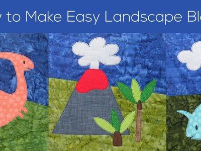 How to Make Easy Landscape Blocks