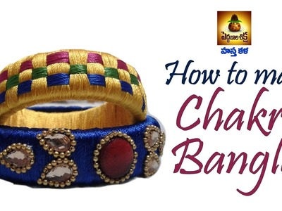 How to Make Easy ZigZag  Silk Thread Model Chakra Bangles at Home Tutorial