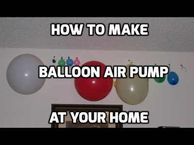 How to Make Electric Balloon Pump Balloon Inflator DIY