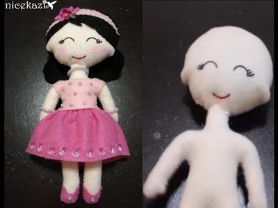 How to make Felt Doll part 1