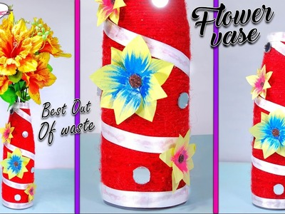 How to make flower vase from waste woolen | home decor | Best out of best | DIY | Artkala 167
