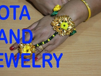 HOW TO MAKE GOTA JEWELRY FOR HAND.HAND HARNESS | TUTORIAL | DO IT YOURSELF JEWELLERY